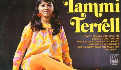 "Tammi Terrell (born Thomasina Winifred Montgomery; April 29, 1945  March 16, 1970) best known as a star singer for Motown Records during the 1960s, most notably for a series of duets with singer Marvin Gaye. Terrell's career began as a teenager, first recording for Scepter/Wand Records, before spending nearly two years as a member of James Brown's Revue, recording for Brown's Try Me label. After a period attending college, Terrell recorded briefly for Checker Records, before signing with Motown in 1965. With Gaye, Terrell scored seven Top 40 singles on the Billboard Hot 100, including ""Ain't No Mountain High Enough"", ""Ain't Nothing Like the Real Thing"" and ""You're All I Need to Get By"". Terrell's career was interrupted when she collapsed into Gaye's arms as the two performed at a concert at HampdenSydney College on October 14, 1967, with Terrell later being diagnosed with a brain tumor. She had eight unsuccessful surgeries before succumbing to the illness on March 16, 1970 at the age of 24."