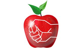 Union Working Against Teachers Illustration by Greg Groesch/The Washington Times