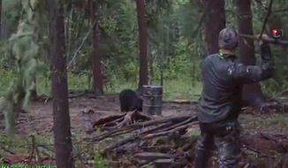 Josh Bowmar, an American hunter who gained widespread backlash after he filmed himself spearing a bear in Alberta, Canada, is speaking out in defense of himself and the sport. (YouTube/@Bowmar Bowhunting)