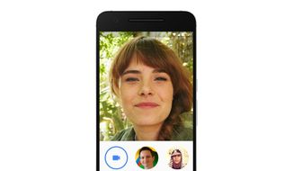 This image provided by Google shows its video chatting app on a mobile device. The app, dubbed Duo, represents Google's response to other popular video calling options, including Apple's FaceTime, Microsoft's Skype and Facebook's Messenger app. The new app, announced in May, is being released Tuesday, Aug. 16, 2016, as a free service for phones running on Google's Android operating system as well as Apple's iPhones. (Google via AP)