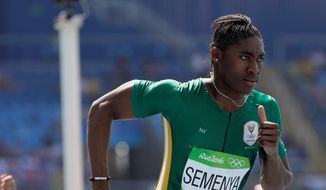 Amid questions about her appearance, South Africa's Caster Semenya is a favorite to win gold in the 800 meters. (Associated Press)