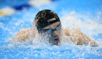 Jack Conger swims during the men's 200-meter butterfly preliminaries at the U.S. Olympic swimming trials in Omaha, Neb., on June 28, 2016. (Associated Press)