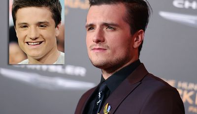 "Josh Hutcherson (born October 12, 1992) began his acting career in the early 2000s and appeared in several commercials and minor film and television roles before landing his first major role in 2002 in the pilot episode of House Blend. His first film role was in Miracle Dogs (2003) on Animal Planet, followed by a motion-capture performance in The Polar Express (2004) and a voice-acting role in Howl's Moving Castle (2005). Hutcherson's other early film appearances include Little Manhattan, Zathura (both 2005), RV (2006), Bridge to Terabithia (2007), Journey to the Center of the Earth (2008), and The Kids Are All Right(2010). In 2011, he landed the leading role of Peeta Mellark in the box office record-setting film series The Hunger Games, released annually from 2012 to 2015, for which he won three MTV Movie Awardsand a People's Choice Award. During the same period he also played a lead role in Journey 2: The Mysterious Island (2012) and a voice role in the animated film Epic (2013). Throughout his career, Hutcherson has expressed an interest in directing and producing. He has served as an executive producer in Detention (2011), The Forger (2012) and Escobar: Paradise Lost (2015), while also playing a lead role in each film. He is also heavily involved in the gaystraight alliance chapter called ""Straight But Not Narrow"". (AP Photo)"