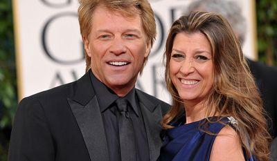 Rocker Bon Jovi met Dorothea Hurley when they were both in high school. The couple secretly married in 1989 during Bon Jovi's the The New Jersey Syndicate Tour (AP Photo)