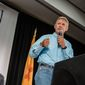 Gary Johnson has been building support in Colorado and Nevada, two swing states where Hillary Clinton and Donald Trump have tried to attract Hispanics. (Associated Press)