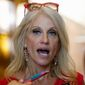 "Kellyanne Conway says, ""The content-free campaign is over"" for Republican candidate Donald Trump. (Associated Press)"