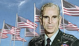 Gen. Jack Vessey Illustration by Greg Groesch/The Washington Times