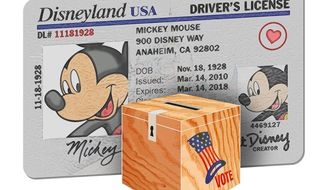 Mickey Mouse Photo ID Illustration by Greg Groesch/The Washington Times