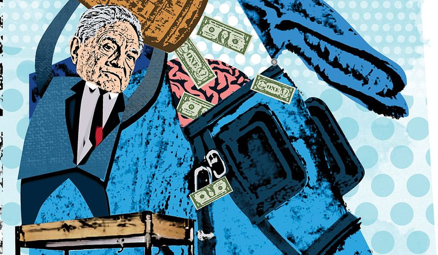 The Tactics of George Soros Illustration by Linas Garsys/The Washington Times