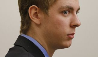 In this March 30, 2015 photo, Brock Turner appears in the Palo Alto, Calif., branch of Santa Clara County Superior Court court for a status hearing. A California judge under fire for a light sentence given to a Stanford University swimmer has recused himself from making his first key decision in another sex crimes case. The judge is the target of a recall campaign that started in June after he sentenced former Stanford swimmer Brock Turner, 20, to six months in jail for sexually assaulting an intoxicated woman who passed out behind a trash bin after a fraternity party. (Gary Reyes/San Jose Mercury News via AP, File) MANDATORY CREDIT