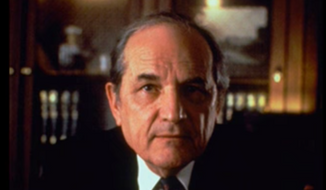 Actor Steven Hill. Screenshot credit: Law and Order