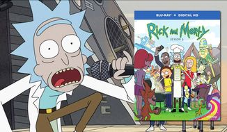 """Rick sings to save humanity in """"Rick and Morty: Season 2,"""" now available on Blu-ray from Warner Bros. Home Entertainment."""