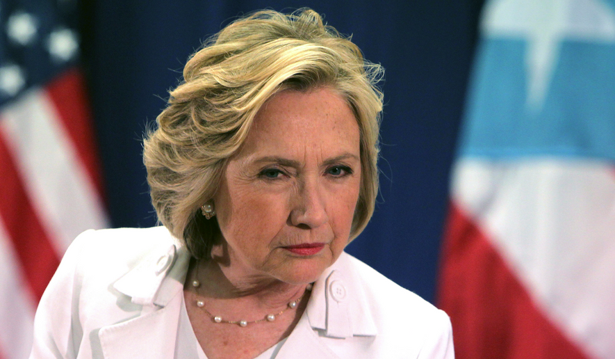 Hillary Clinton appears in Puerto Rico during a recent campaign event. (Associated Press photo)