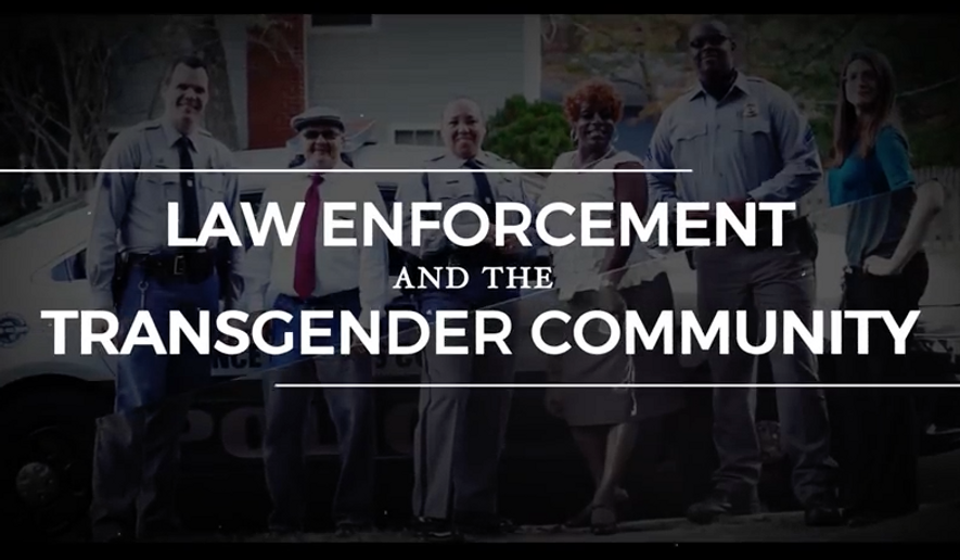 "Screen capture from a DOJ training video released on August 24, 2016, titled, ""Law Enforcement and the Transgender Community - CRS Roll Call Training Video"""