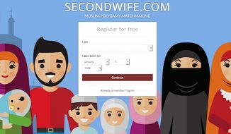 "The British founder of the ""Second Wife"" says his polygamy website has gained over 100,000 Muslim members since its launch in June. (Second Wife screenshot)"