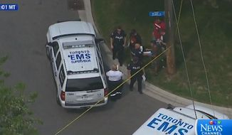 Three people were killed in an attack Thursday involving a crossbow in Toronto, police said. (CTV)