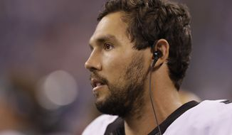 Philadelphia Eagles quarterback Sam Bradford (7) on the sideline during the second half of an NFL preseason football game against the Indianapolis Colts in Indianapolis, Saturday, Aug. 27, 2016. (AP Photo/Darron Cummings)