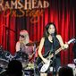 The Bangles' Vicki Peterson, Debbi Peterson and Susanna Hoffs perform at the Rams Head On Stage in Annapolis, MD. (Photograph by Jacquie Kubin / Special to The Washington Times)