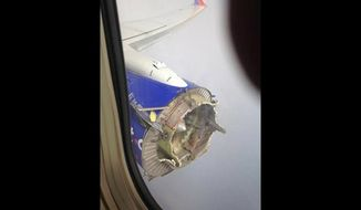 Photo of a damaged engine on Southwest Flight #3472 from New Orleans to Orlando, which had to make an emergency landing in Pensacola. Photo originally snapped by Jeremy Martin, accessed via KOCO on August 27, 2016.