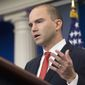 Deputy national security adviser Ben Rhodes said if the U.S. can't complete the Asia trade pact, it would be a significant leadership setback. (Associated Press)
