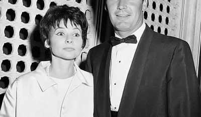 "James Garner was married to Lois Clarke, whom he met at an ""Adlai Stevenson for President"" rally in 1956. They married 14 days later on August 17, 1956. In late 1979, Garner separated from his wife (around the time The Rockford Files stopped filming), splitting his time between living in Canada and ""a rented house in the Valley."" The two reconciled in September 1981, and remained married for the rest of his life. Garner died less than a month before their 58th wedding anniversary. (AP Photo)"