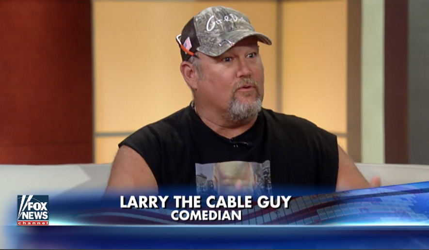 Comedian Larry the Cable Guy on the Aug. 30, 2016, edition ...