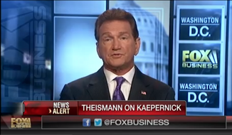 Joe Theismann on an August 29, 2016 interview on the Fox Business Network. Screen captured from video.
