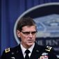 Army Gen. Joseph Votel, who took over the lead war-fighting command in March, told reporters at the Pentagon the ultraviolent jihadi group's capabilities have been greatly degraded and dismantled in Iraq and Syria, including significant loss of territory it once controlled. Recent military operations have cut off key supply lines and routes used by foreign fighters. (Associated Press)