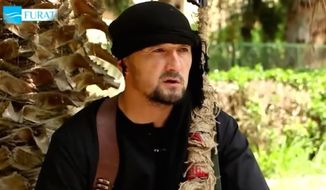 The U.S. State Department has offered a $3 million reward for information leading to the capture of Gulmurod Khalimov. (YouTube, Russia Today)