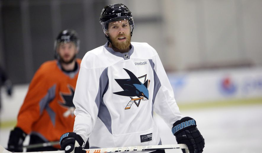 FILE - In this May 27, 2016 file photo, San Jose Sharks ...