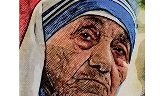 Mother Teresa Illustration by Greg Groesch/The Washington Times