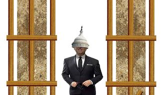 Illustration on making the lawmakers live under their own legislation by Alexander Hunter/The Washington Times