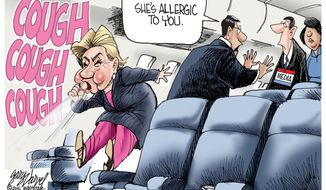 Image result for hillary health concerns cartoons