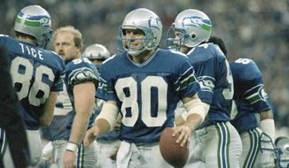 NFL Hall of Fame member Steve Largent told a Seattle radio station on Thursday, Sept. 8, 2016, that players should not bring their political activism into stadiums on game day. (Associated Press) ** FILE **
