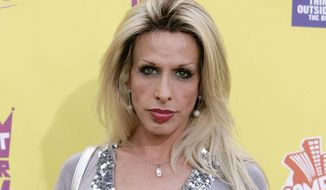 """In this July 22, 2007, file photo, Alexis Arquette arrives at the """"Comedy Central Roast of Flavor Flav"""" in Burbank, Calif. Arquette, the transgender character actress and sibling of actors David, Rosanna, Richmond and Patricia Arquette, died early Sunday, Sept. 11, 2016, in Los Angeles. She was 47. (AP Photo/Matt Sayles, File)"""