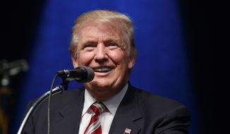 Republican presidential candidate Donald Trump speaks during a rally, Tuesday, Sept. 13, 2016, in Clive, Iowa. (AP Photo/Evan Vucci)