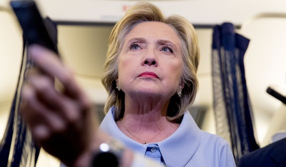 From her involvement with firings at the White House Travel Office to her claim that she braved sniper fire in Bosnia to her repeated lies about her secret email setup as secretary of state, Hillary Clinton has left a trail of deceit and deception stretching back a quarter-century. (Associated Press)