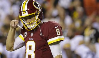 Washington was embarrassed on national TV as it seeks to prove last year was no fluke and quarterback Kirk Cousins is no dud. (Associated Press)