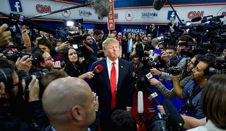 Wary of how the press treats Donald Trump, Republicans have the least amount of trust in the media, a Gallup poll finds. (Associated press) **FILE**