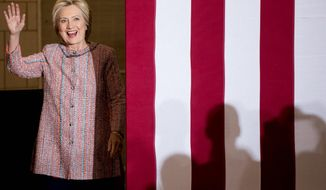 """After a bout of illness, Hillary Clinton has returned to the campaign trail, despite suggestions that her election efforts are in """"crisis."""" (Associated Press)"""