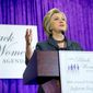 Democratic presidential candidate Hillary Clinton speaks at the Black Women's Agenda's 29th Annual Symposium, Friday, Sept. 16, 2016, in Washington. (AP Photo/Andrew Harnik)