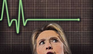 Hillary's Economic Flatline Illustration by Greg Groesch/The Washington Times