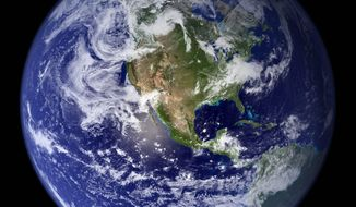 """A new Fox News poll finds that 57 percent of voters agree the world is """"going to hell in a hand basket."""" (NASA)"""