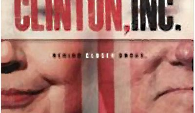 Promotional poster for Clinton, Inc.         The Washington Times