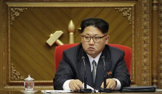 In this May 9, 2016, file photo, North Korean leader Kim Jong-un listens during the party congress in Pyongyang, North Korea. (AP Photo/Wong Maye-E, File)