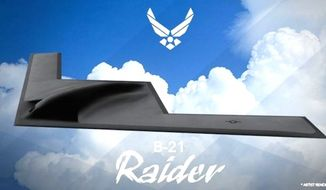 The U.S. Air Force officially named its long-range strike bomber the B-21 Raider on Monday, Sept 19, 2016. (Air Force)
