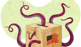 Friendly Octopus Illustration by Greg Groesch/The Washington Times