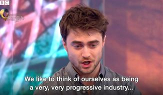 """Actor Daneil Radcliffe told BBC's Victoria Derbyshire that while Hollywood is considered """"very, very progressive,"""" it is in fact a racist industry. (BBC screenshot)"""