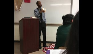 Lee Francis, a history teacher at Massey Hill Classical High School in North Carolina, is facing backlash after he reportedly stomped on the U.S. flag as part of a lesson on free speech. (Facebook/@Sara Taylor)