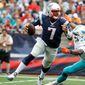 The New England Patriots didn't miss a beat with third-string quarterback Jacoby Brissett on Sunday. (Associated Press)